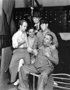 """The Dancing Lady""Clark Gable, Ted Healy, and the Three StoogesMGM, 1933**I.V. - Image 6094_0018"