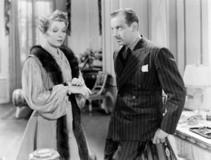 """Ina Claire and Melvyn Douglas in """"Ninotchka""""1939 MGM** I.V. / J.J. - Image 6103_0015"""
