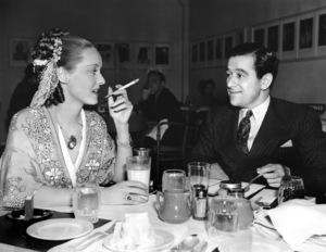 """""""Jezebel""""Bette Davis and director William Wyler take a break during filming1937 Warner Brothers**I.V. - Image 6146_0013"""