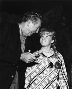 """""""In Search of the Castaways""""Walt Disney, Hayley Mills1961 Walt Disney ProductionsPhoto by Joe Shere - Image 6186_0002"""