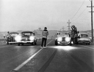 """American Graffiti""Charlie Martin Smith (center) © 1973 Universal - Image 6199_0030"