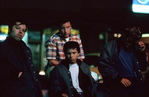 """American Graffiti""Beau Gentry, Richard Dreyfuss, Manuel Padilla Jr., Bo Hopkins1973 Universal Pictures** I.V. - Image 6199_0154"