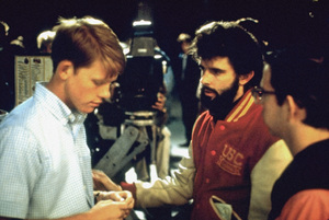 """American Graffiti""Ron Howard, director George Lucas, Charles Martin Smith1973 Universal Pictures** I.V. - Image 6199_0271"