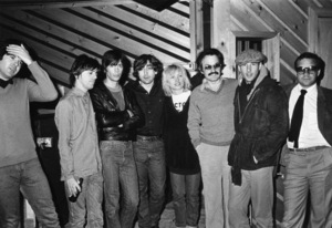 "Blondie (Debbie Harry) with Giorgio Moroder, Richard Gere, and director Paul Schrader (Moroder created the score for ""American Gigolo"")circa 1980** I.V. - Image 6200_0076"