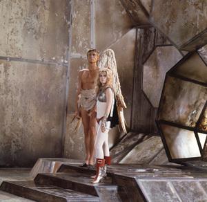 """Barbarella""Jane Fonda and John Phillip Law1968 Paramount**I.V. - Image 6232_0175"