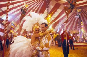 """Big Top Pee-Wee""Valeria Golino, Paul  Reubens © 1986 UniversalPhoto by Bud Gray - Image 6257_0003"