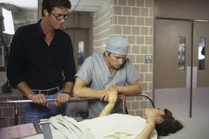 """Coma""Director Michael Crichton, Michael Douglas, Geneviève Bujold1978 MGM© 1978 Bruce McBroom - Image 6295_0039"