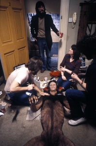 """American Werewolf In London, An""David Naughton, Rick Baker and Dir. John Landis1981 Universal © 1981 Bob Willoughby - Image 6355_0015"