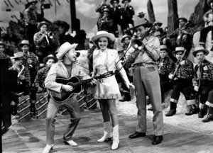 Mickey Rooney, Judy Garland, Tommy Dorsey & his orchestra.  Film SetGirl Crazy (1943)0035942MGM - Image 6445_0002