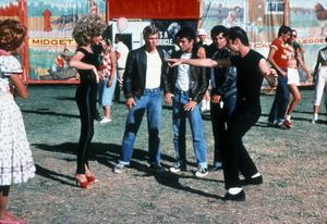 """Grease""Kelly Ward, Olivia Newton-John, John Travolta, Michael Tucci, Barry Pearl © 1978 Paramount - Image 6457_0023"