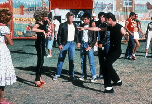 """Grease""Kelly Ward, Olivia Newton-John, John Travolta, Michael Tucci, Barry Pearl © 1978 Paramount - Image 6457_0023"