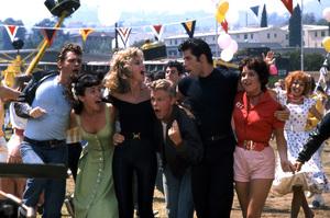 """""""Grease""""Olivia Newton-John, Jeff Conaway, John Travolta, Stockard Channing © 1978 Paramount Pictures** I.V. - Image 6457_0051"""