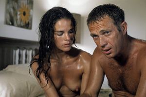 """""""The Getaway"""" Ali MacGraw, Steve McQueen 1972 Solar Productions Photo by Mel Traxel  - Image 6473_0069"""