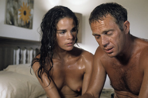 """""""The Getaway"""" Ali MacGraw, Steve McQueen 1972 Solar Productions Photo by Mel Traxel  - Image 6473_0072"""