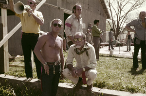 """""""The Getaway""""Steve McQueen, director Sam Peckinpah1972Photo by Herm Lewis - Image 6473_0091"""