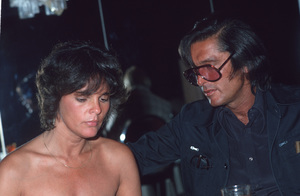 """Ali MacGraw with Ex-husbandRobert Evans promoting the film """"Players"""" © 1979 Gunther - Image 6628_0099"""