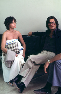 "Ali MacGraw with Ex-husbandRobert Evans promoting ""Players"" © 1979 Gunther - Image 6628_0100"