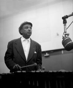 Lionel Hampton at a recording session, circa 1950. © 1978 Bob Willoughby / MPTV - Image 6637_107