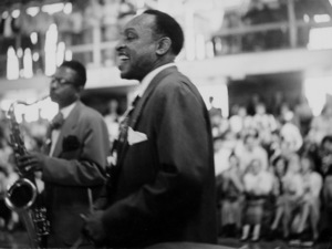 Lionel Hampton at Hollywood High School, circa 1950. © 1978 Bob Willoughby / MPTV - Image 6637_109