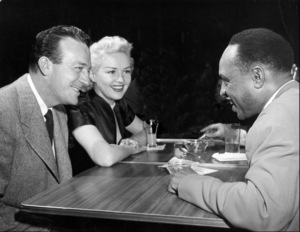 Lionel Hampton (right) with Harry James and Betty Grable, circa 1950. © 1978 Bob Willoughby / MPTV - Image 6637_114