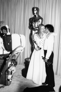 """Meryl Streep and Dustin Hoffman backstage at """"The 52nd Annual Academy Awards"""" at the Dorothy Chandler Pavilion  April 14, 1980 ** B.D.M."""
