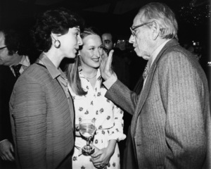 Jane Alexander, Meryl Streep and Melvyn Douglas at a party thrown at Tavern on the Green for New York-based Academy Award nominees April 8, 1980** B.D.M. - Image 6696_0029