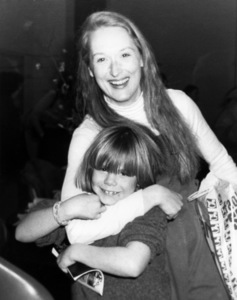 """Justin Henry visits Meryl Streep backstage after a performance of """"Alice in Concert"""" January 1, 1980** B.D.M. - Image 6696_0031"""