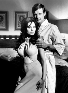 """""""Live and Let Die,"""" Madeline Smith, Roger Moore © 1973 MGM / MPTV - Image 6773_0010"""