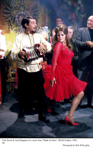 """Made in Paris"" Vito Scotti, Ann-Margreton the set, 1965 MGM © 1978 Bob Willoughby - Image 6802_0019"