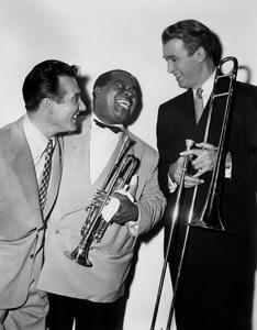 """The Glenn Miller Story""Gene Krupa, Louis Armstrong, James Stewart1953 Universal - Image 6814_0001"