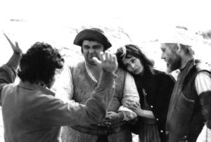 """Man Of La Mancha,""Director Arthur Miller, James Coco,Sophia Loren, and Peter O"