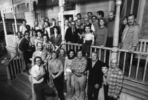 """Magic""Producer Joseph E. Levine, Ann-Margret, Ed Lauter, Burgess Meredith, Anthony Hopkins, ""Fats,"" director Richard Attenborough1978© 1978 Bruce McBroom - Image 6865_0017"