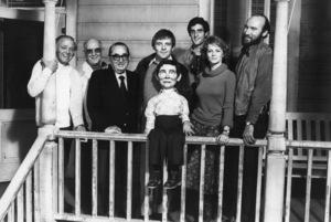 """Magic""Producer Joseph E. Levine, Ann-Margret, Ed Lauter, Burgess Meredith, Anthony Hopkins, ""Fats,"" director Richard Attenborough1978© 1978 Bruce McBroom - Image 6865_0018"