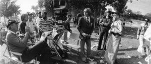 """""""Oh, God!""""Director Carl Reiner, John Denver, George Burns1977© 1978 David Sutton - Image 6972_0013"""