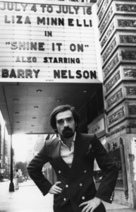 Martin Scorsese in front of the Shubert Theatre in Chicago1977 © 1978 Bruce McBroom - Image 7001_0003