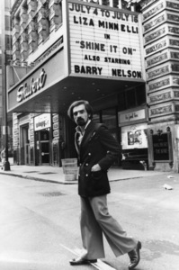 Martin Scorsese in front of the Shubert Theatre in Chicago1977 © 1978 Bruce McBroom - Image 7001_0004