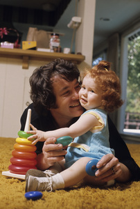 Michael Cole and his daughter, Jennifer Holly Colecirca 1972© 1978 Gene Trindl - Image 7049_0003