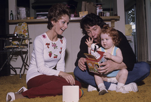 Michael Cole with his wife Paula Kelly Jr., and their daughter, Jennifer Holly Colecirca 1972© 1978 Gene Trindl - Image 7049_0005