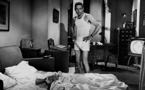 """Paul Newman standing in his underwear on the set of """"Harper,"""" 1966. © 1978 David SuttonMPTV - Image 70_2219"""
