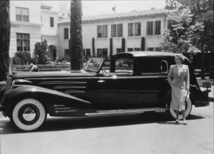 Marlene Dietrich with her Cadillac Town CarC. 1935**R.C. - Image 709_1099