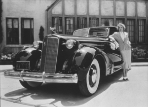 Marlene Dietrich with her Cadillac Town Car, C. 1935.**R.C. - Image 709_1100