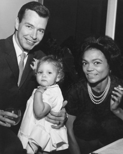 Eartha Kitt with husband William (Bill) O. McDonald and their daughter Kittcirca 1962** I.V. - Image 7143_0034