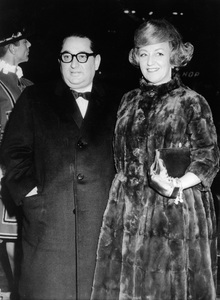 """Joseph E. Levine and wife Rosalie arrive for premiere of his film """"No Love for Johnnie""""12-11-1961 - Image 7148_0001"""