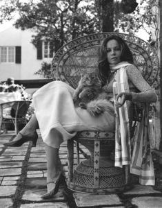 Leslie Caron at home1971 © 1978 Larry Kastendiek - Image 715_0010