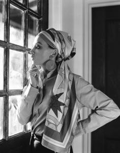 Leslie Caron at home1971 © 1978 Larry Kastendiek - Image 715_0011