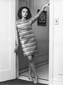 Leslie Caron in an Yves St. Laurent dress at the Plaza in New York1967 - Image 715_0036