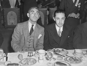 Irving Thalberg with Eddie Cantor at the Ambassador July 10, 1935**I.V. - Image 7216_0012