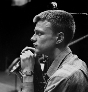 Gerry Mulligan at a recording session, Los Angeles, CA, 1953. © 1978 Bob Willoughby / MPTV - Image 7254_108