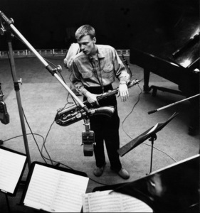 Gerry Mulligan at a recording session, Los Angeles, CA, 1953. © 1978 Bob Willoughby / MPTV - Image 7254_109