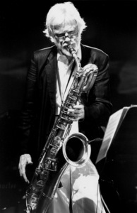 "Gerry Mulligan at the ""Jazz Gipfel"" concert, Stuttgart, Germany, 1992. © 1978 Bob Willoughby / MPTV - Image 7254_205"